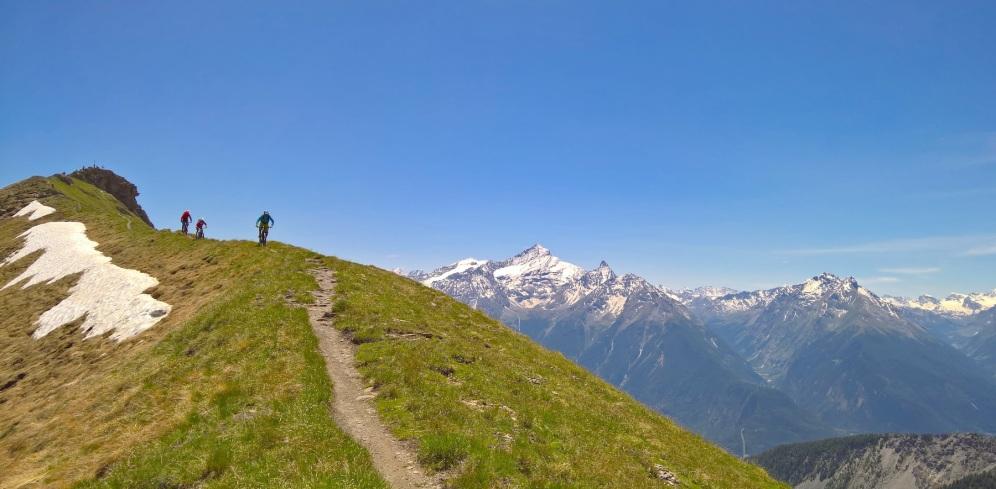 Valle d'Aosta - Blick auf den Mont Blanc