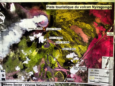 Ein Überblick über das Gebiet des Nyiragongo.