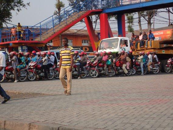 Kreuzung in Goma