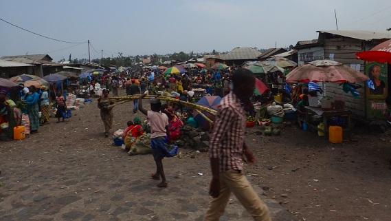 Strasse in Goma